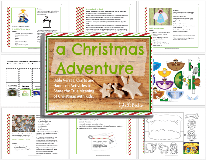 a Christmas Adventure devotional and activity book