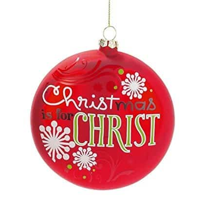 keeping christ in christmas ornament