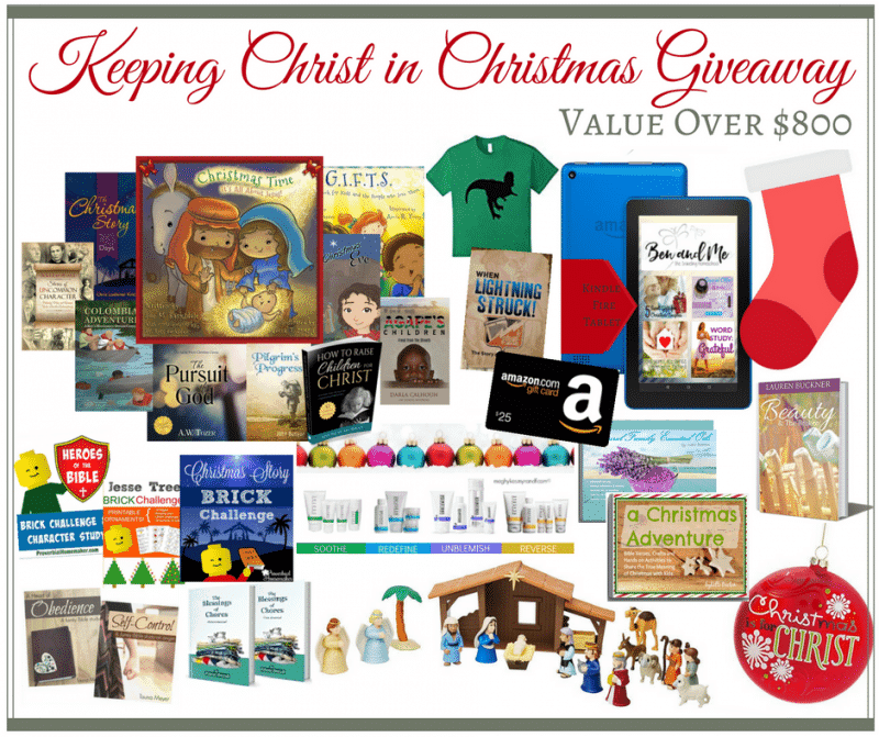 Keeping Christ in Christmas giveaway items