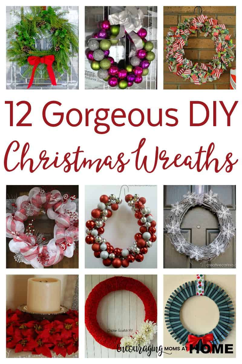 12 diy christmas wreaths moms can make are you looking for the perfect wreath for your front door this christmas have you save diy ornament solutioingenieria Choice Image