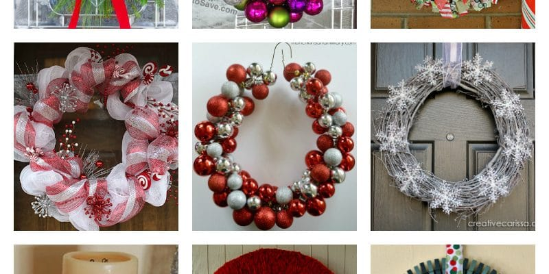 12 DIY Christmas Wreaths Moms Can Make