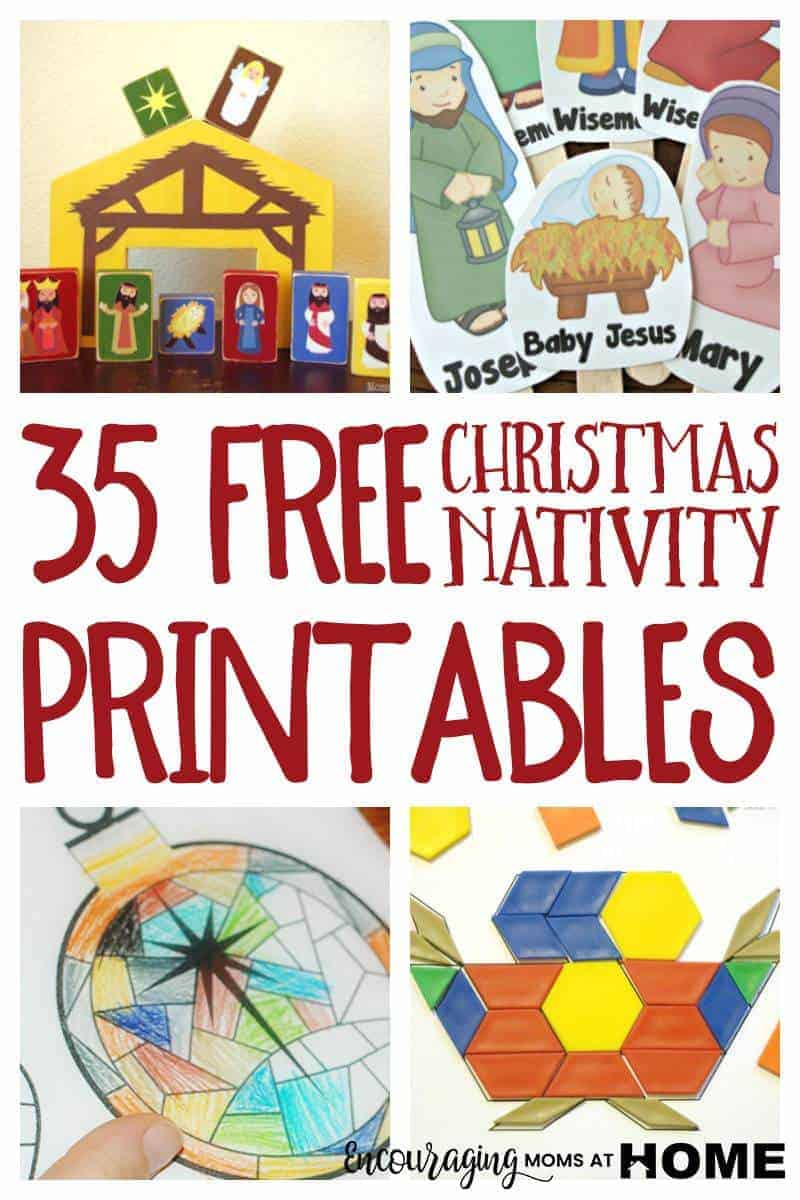 free christmas nativity printables and coloring pages