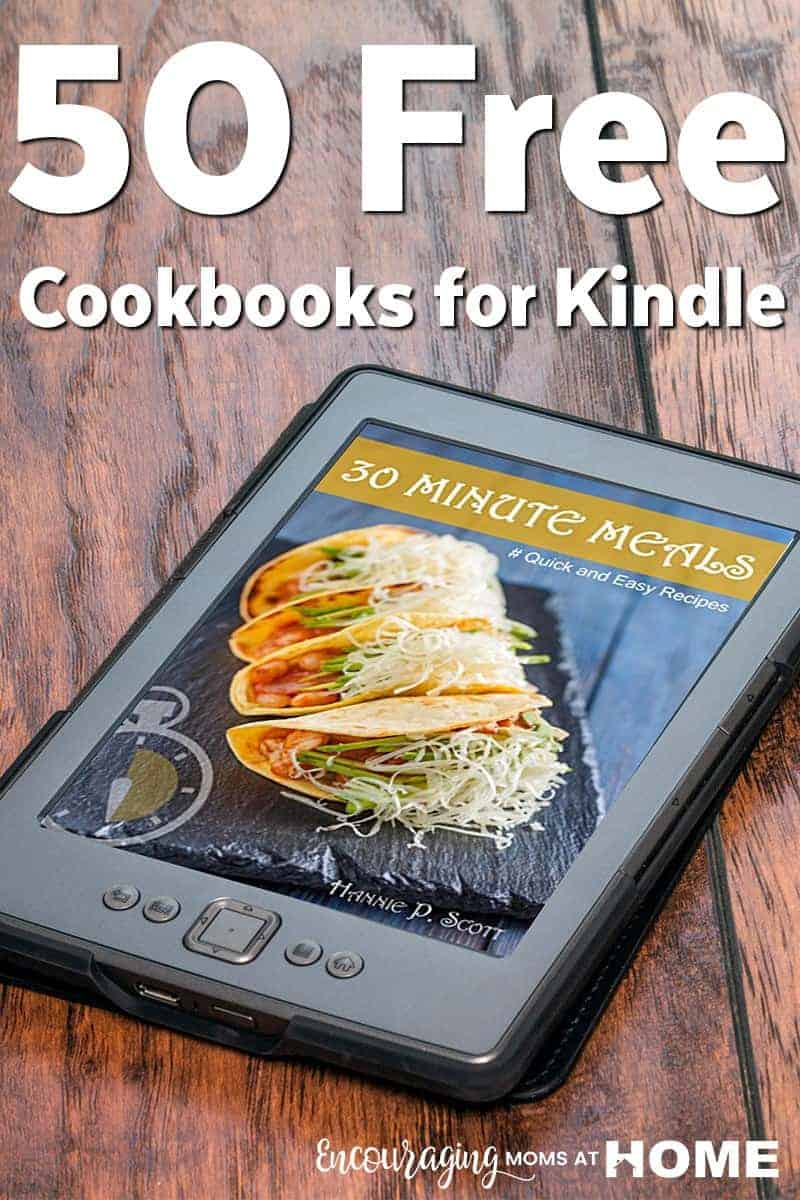 Do you find yourself looking for recipes to plan your meals?  Here are 50 Free Cookbooks for Kindle that are a great resource for a variety of foods.