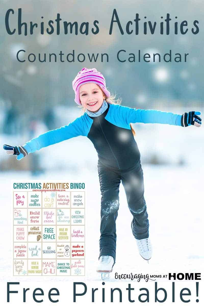 Christmas Activities Countdown calendar - advent calendar - free printable advent calendar.