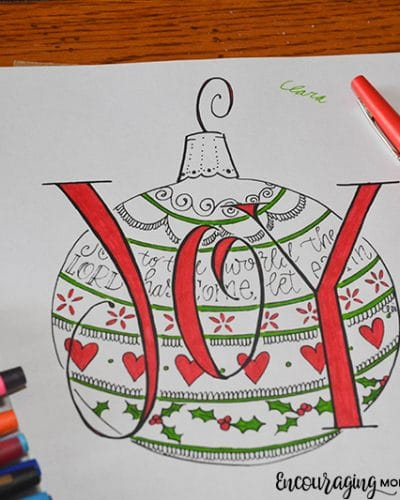 Our Beautiful, Exclusive Christmas JOY Coloring Page