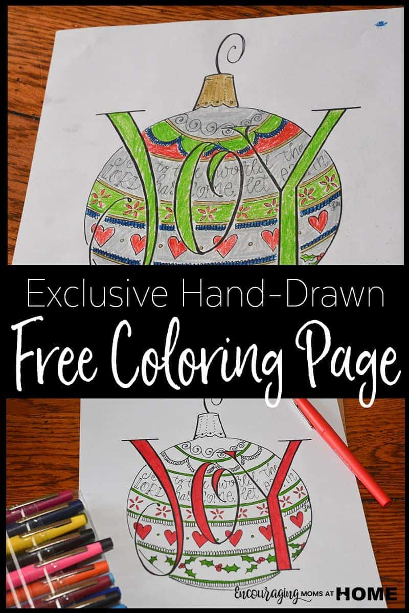 Free Christmas Coloring Page from Encouraging Moms at Home