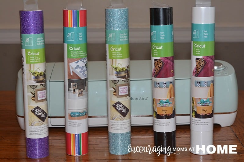 Cricut Vinyl in a variety of colors with cricut machine - what to buy before your first cricut project.