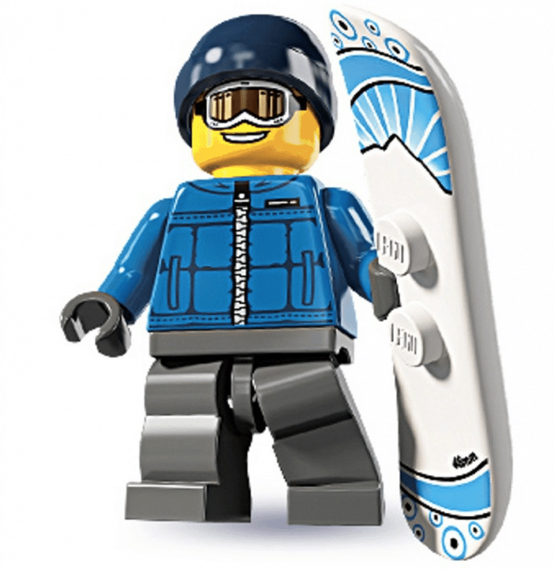 Snow Boarding LEGO Dude
