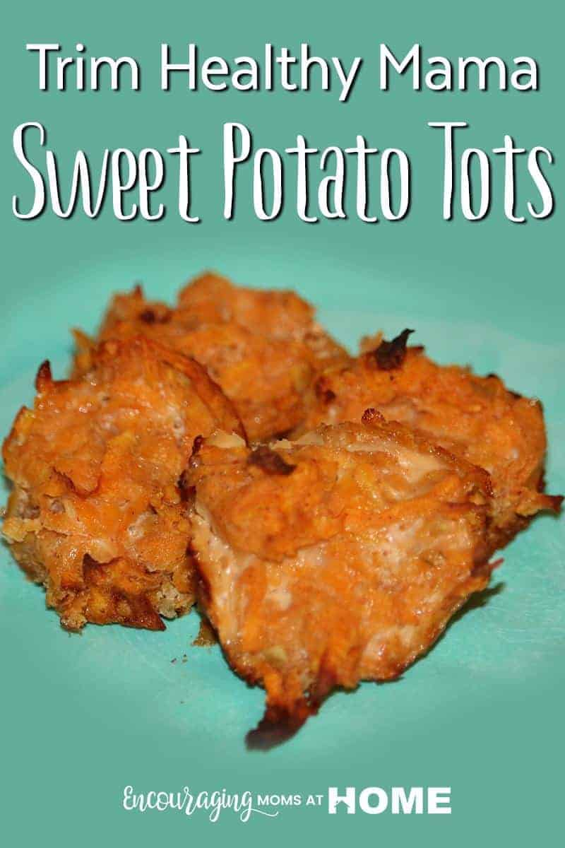 Following the Trim Healthy Mama Plan?  Looking for quick and easy E meal side items?  These Sweet Potato Tots are the perfect balance of savory, sweet, crunchy and soft. #thm #emeal