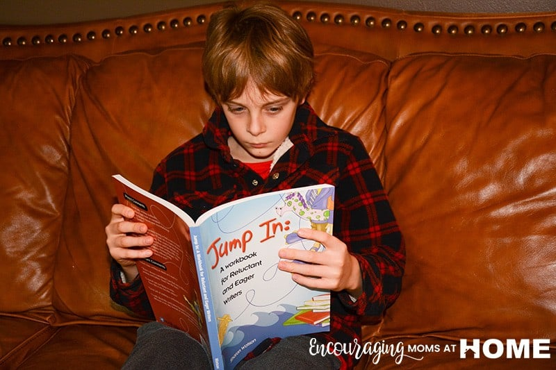 Caleb Reading an Assignment in JumpIN