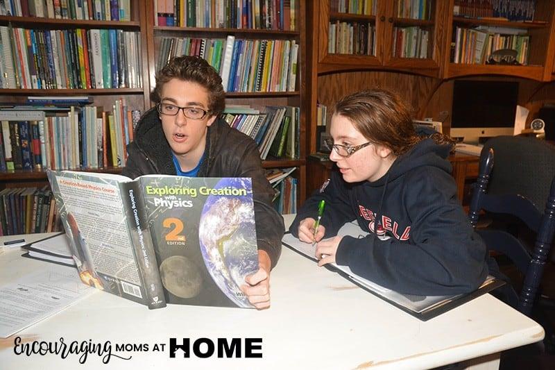 Clara and Jonathan read Exploring Creation with Physics