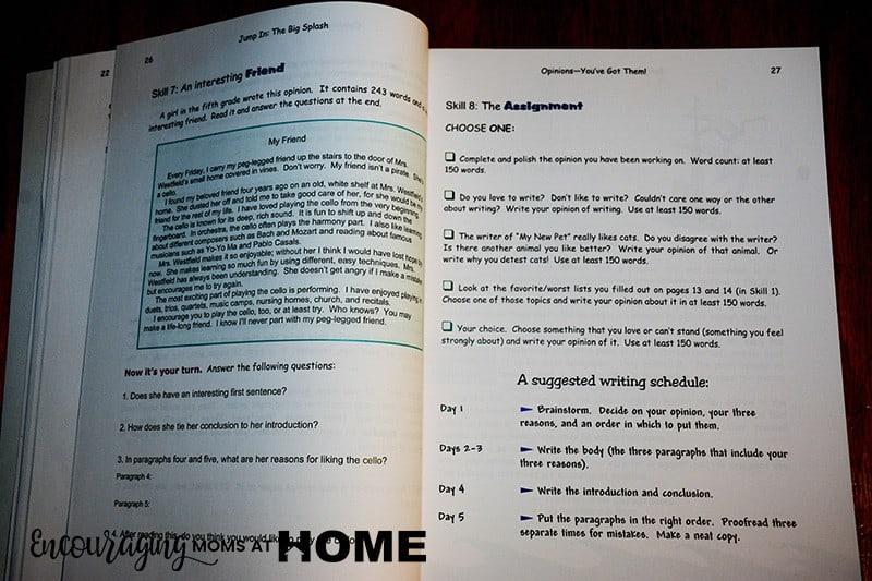 Lesson in Jump In - Peek Inside Book