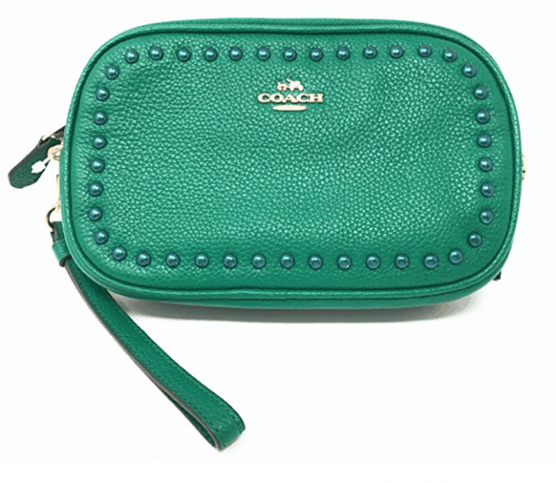 Coach Clutch Purse Bright Green