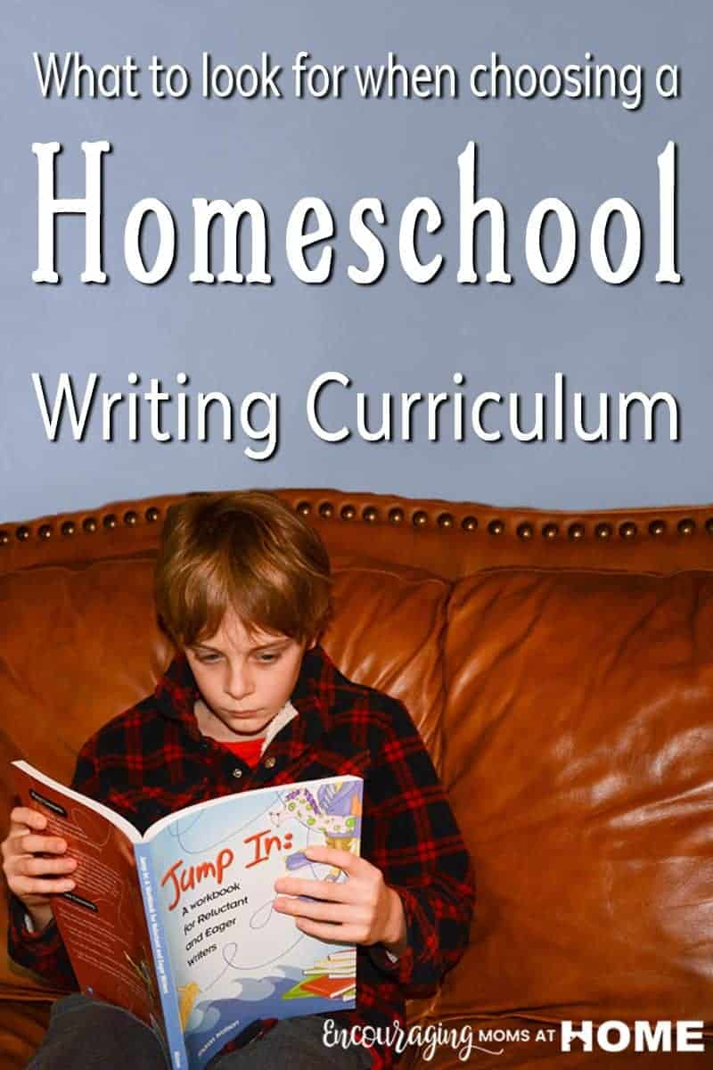Four Things To Look For In A Homeschool Writing Curriculum