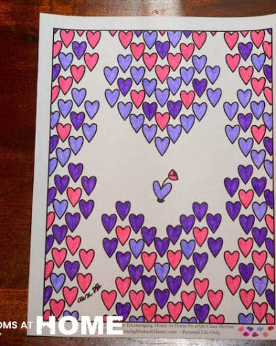 exclusive free valentines day coloring page