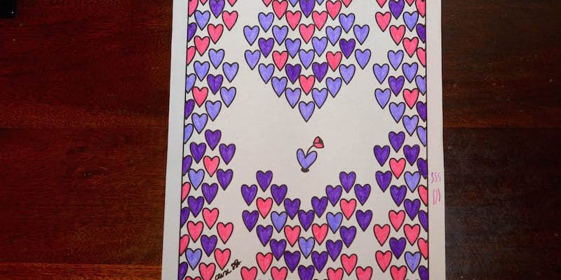 Exclusive Valentine's Day Coloring Page - hearts coloring sheet