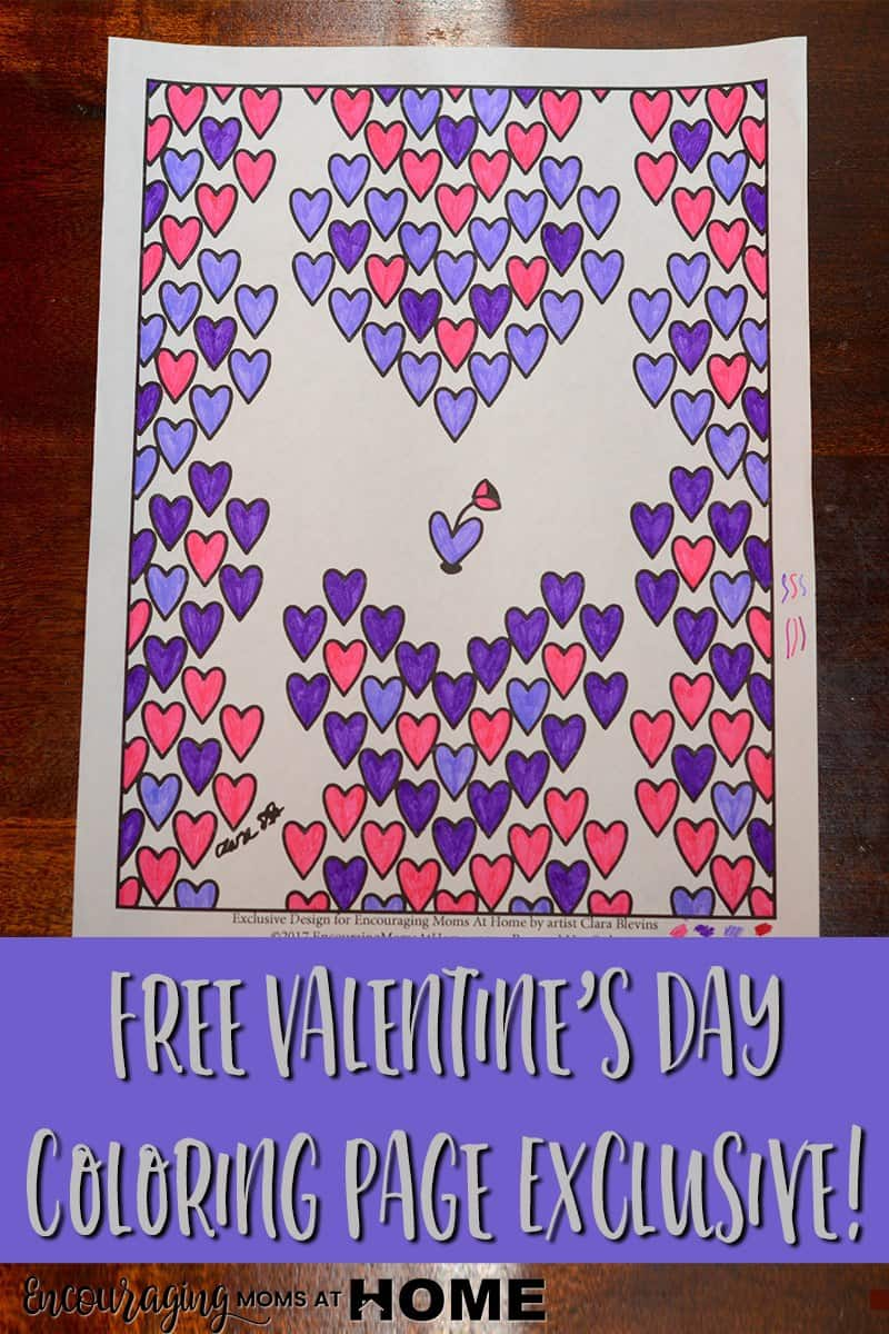 Valentine's Day is a great time for coloring pages. Try this FREE one created exclusively for our readers.
