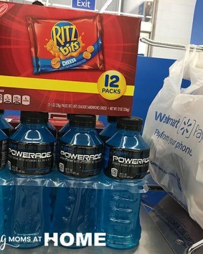 Ritz and Powerade Sideline Snacks - Tips for packing sideline snacks