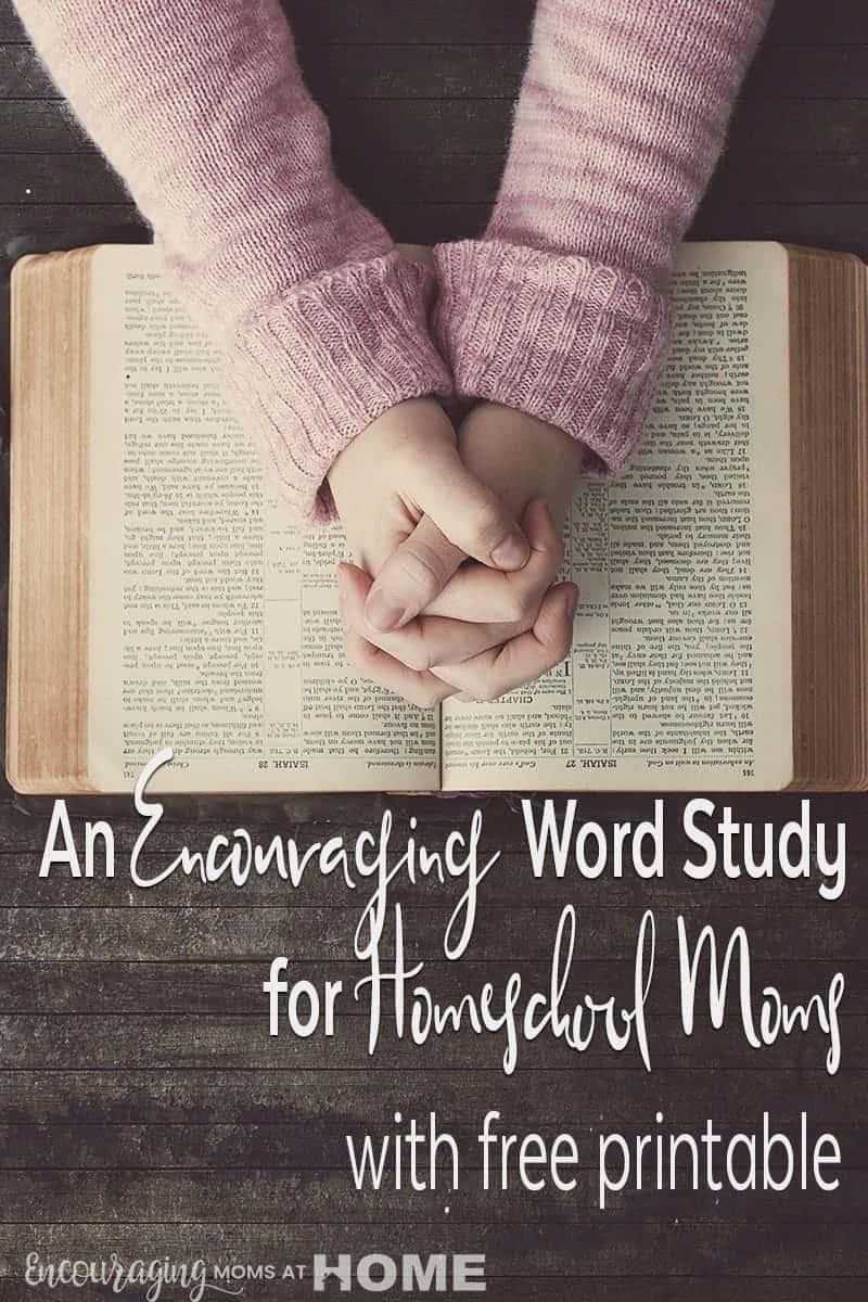 Encouraging Word Study Homeschool Moms