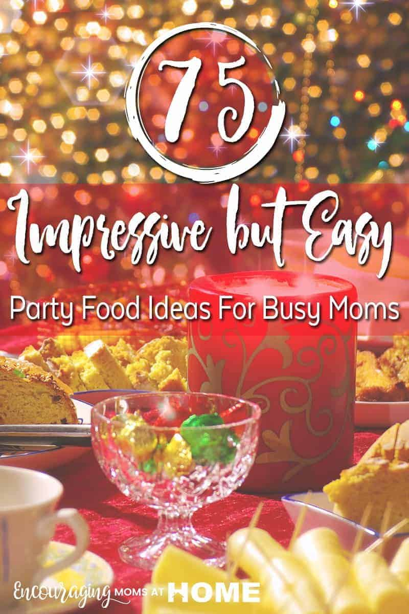 The holiday season is busy so we need impressive AND easy foods for the parties we will attend. Here is a list of 75 ideas that are sure to impress! Hopefully you have most of the ingredients right  in your pantry.