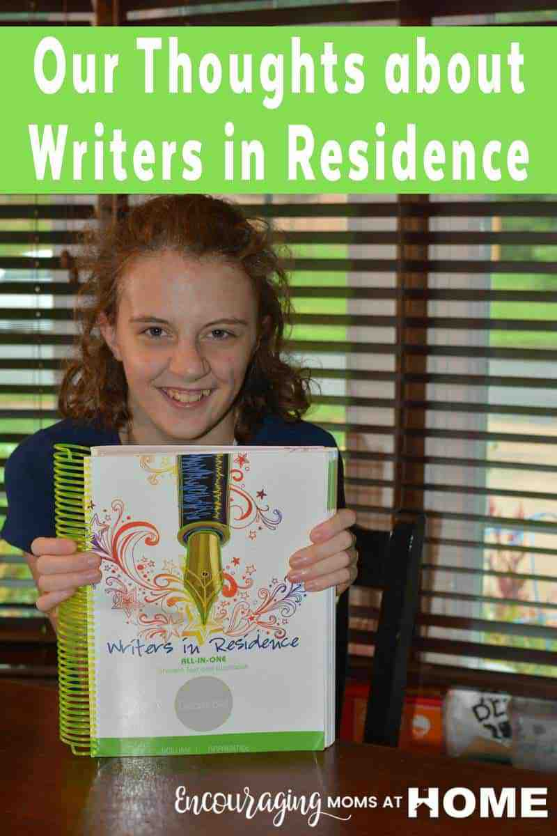 Are you looking for a writing curriculum for your 4th - 8th grader? Let me recommend Apologia's Writers in Residence. This resource is organized in such a way that it encourages the student to write without struggle. It also has built-in grammar lessons and additional helpful information for your writer. AND the best part is that it makes writing fun.