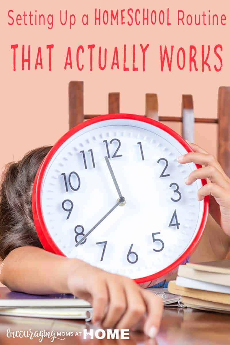 Do your days run better when you have a set routine?  Take a look at these tips for setting up a routine for your homeschool day that will take your learning to the next level and will give you the freedom to pause for a few minutes when needed.