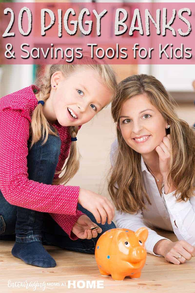 Do your kids have a piggy bank? Do you have a plan for how they save their money? Here are 20 fun piggy bank ideas and some saving tools to help make saving their allowance fun.
