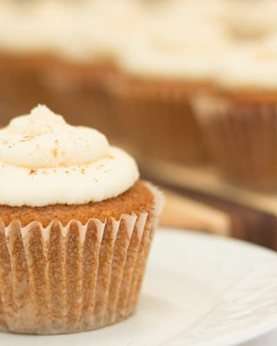 Pumpkin Cupcakes with Orange Mascarpone Frosting