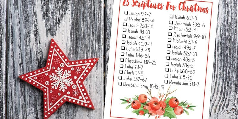Free Printable Bible Verses to Read For Christmas and Advent