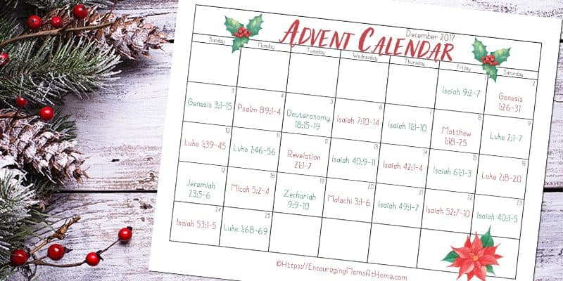 Bible Verse Advent Calendar for December – Read the Christmas Story with your Kids
