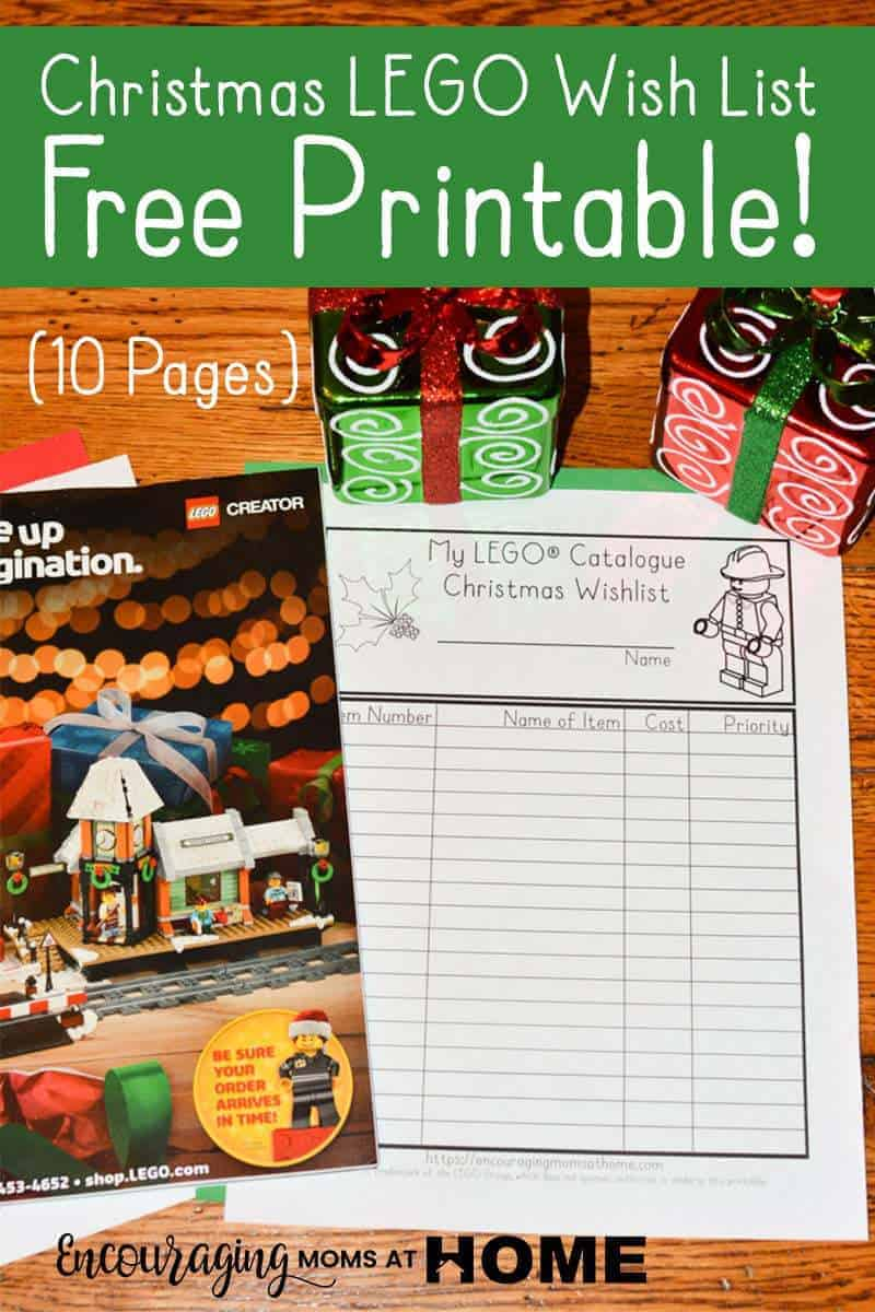 Do you have kids, or adults, with Legos on their Christmas list?  Here's a great way for them to let you know exactly which Lego set is on their Christmas wish list.  Print this LEGO Wish List that can be used with the LEGO catalog. It's FREE and has several options so that each child can have their own.