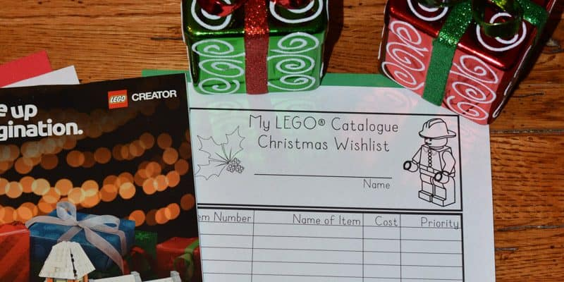 Free Printable LEGO® Catalog Christmas Wishlist