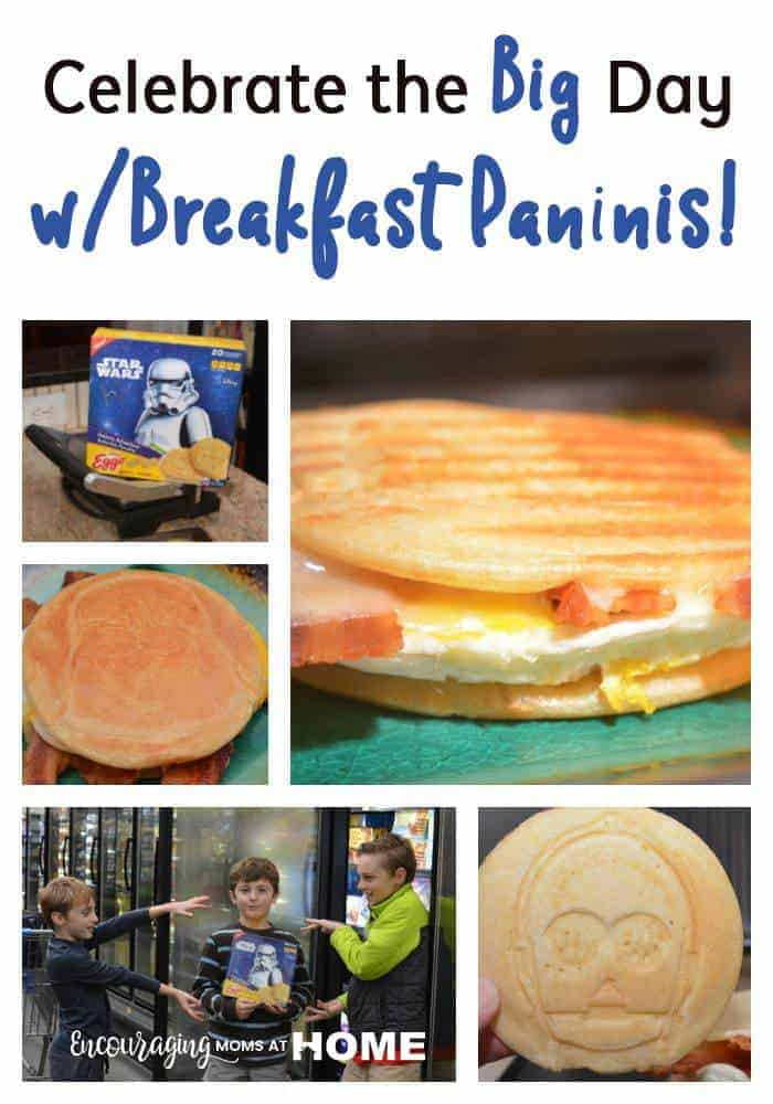 Celebrate the big day with Breakfast Paninis! Plan your party in style and have tasty food with clean ingredients. #AD