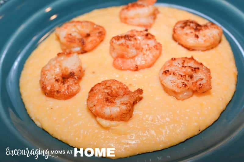 Instant Pot Shrimp and Grits -- Make delicious low country shrimp and grits - cheese grits in the instant pot or pressure cooker! - image