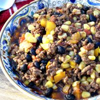 Tex-Mex Chili for Trim Healthy Mama E-Meal or S-Meal