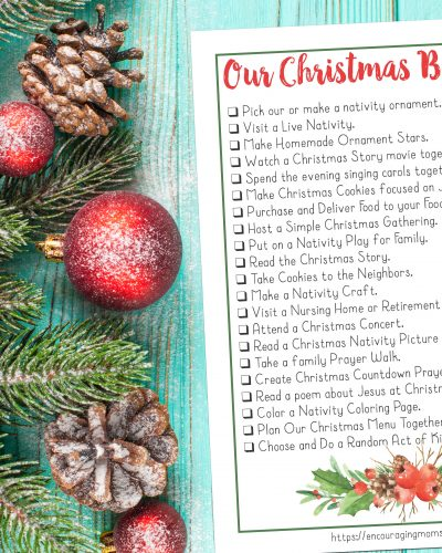 Christ Focused Christmas Bucket List for Families