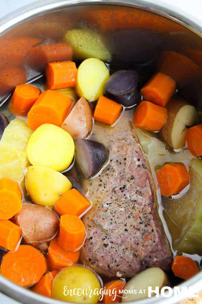 Image: How to cook corned beef in an Instant Pot: The veggies.