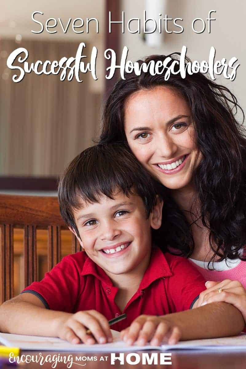 Homeschooling is hard but that doesn't mean that you can't be successful. Here are 7 habits that you can help you can begin that will help you succeed in your homeschool journey. #homeschool #hsmom