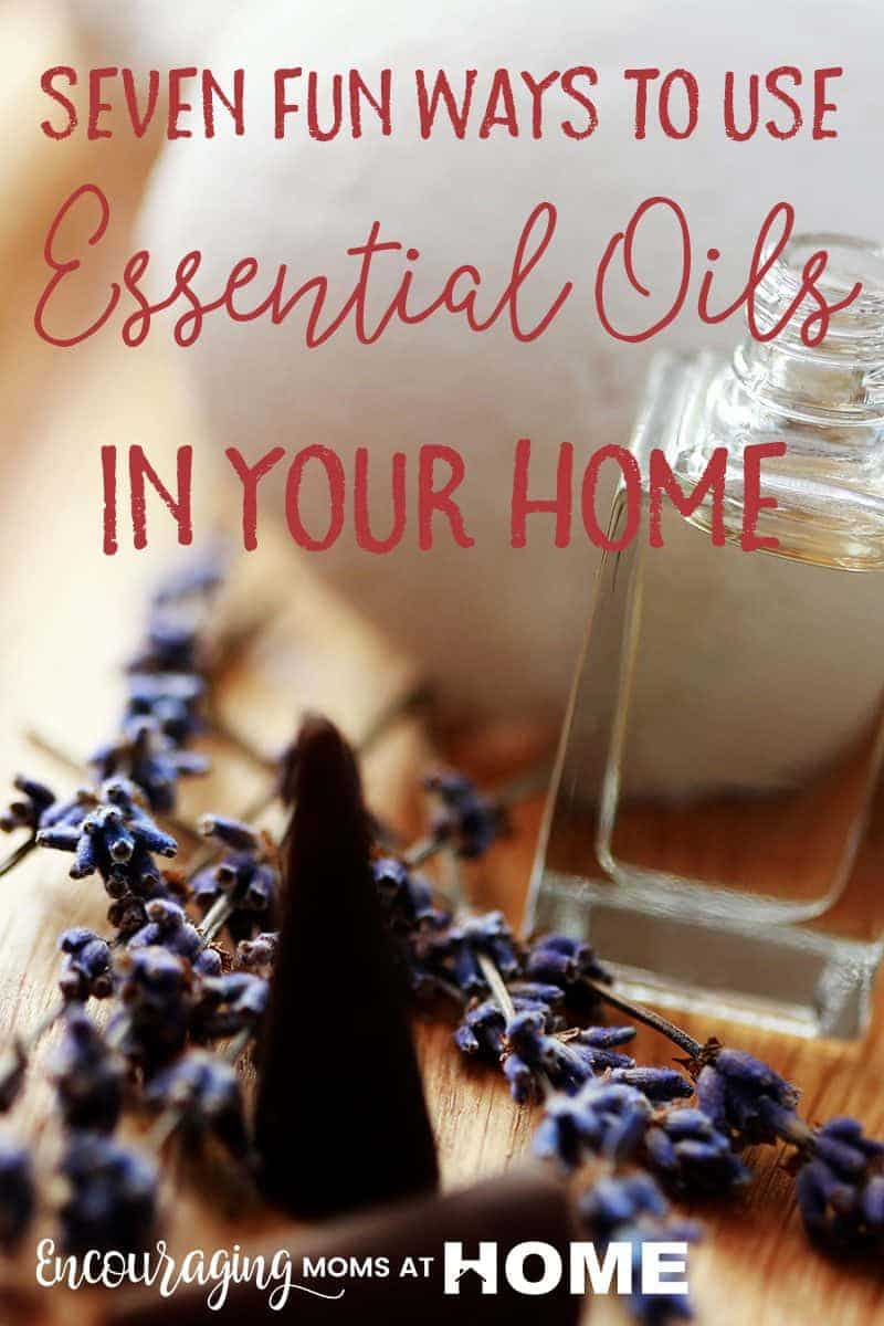 Seven fun ways to use essential oils in your home instead of using a diffuser. Or in addition to using a diffuser. :)