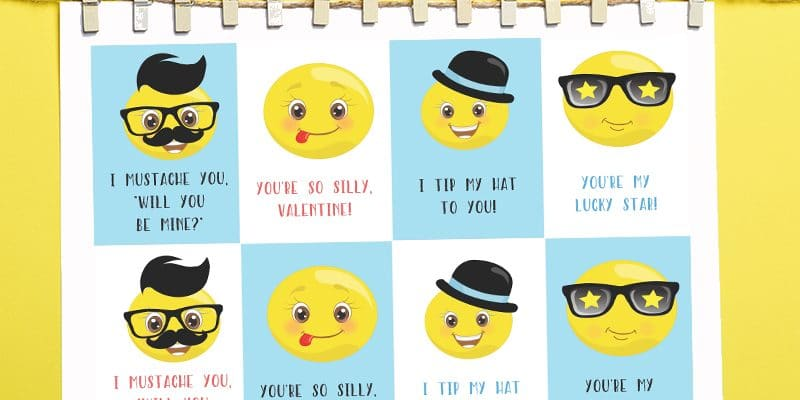 Free Printable Emoji Valentines for Kids ?