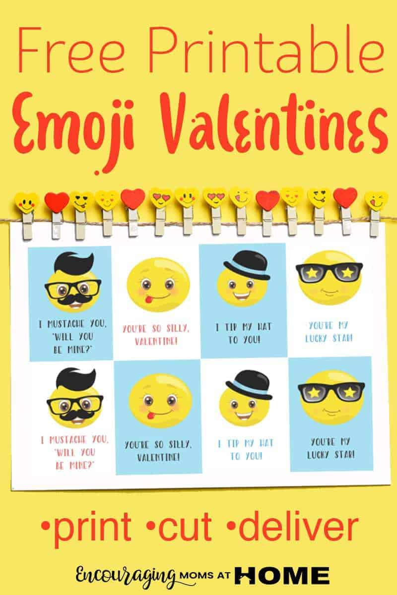 Free Printable Emoji Valentines for Kids plus ideas for how to Jazz them up!
