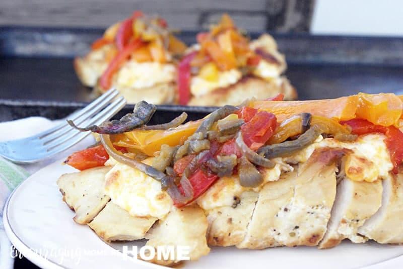 Fajita Chicken Melt for Trim Healthy Mama - THMS