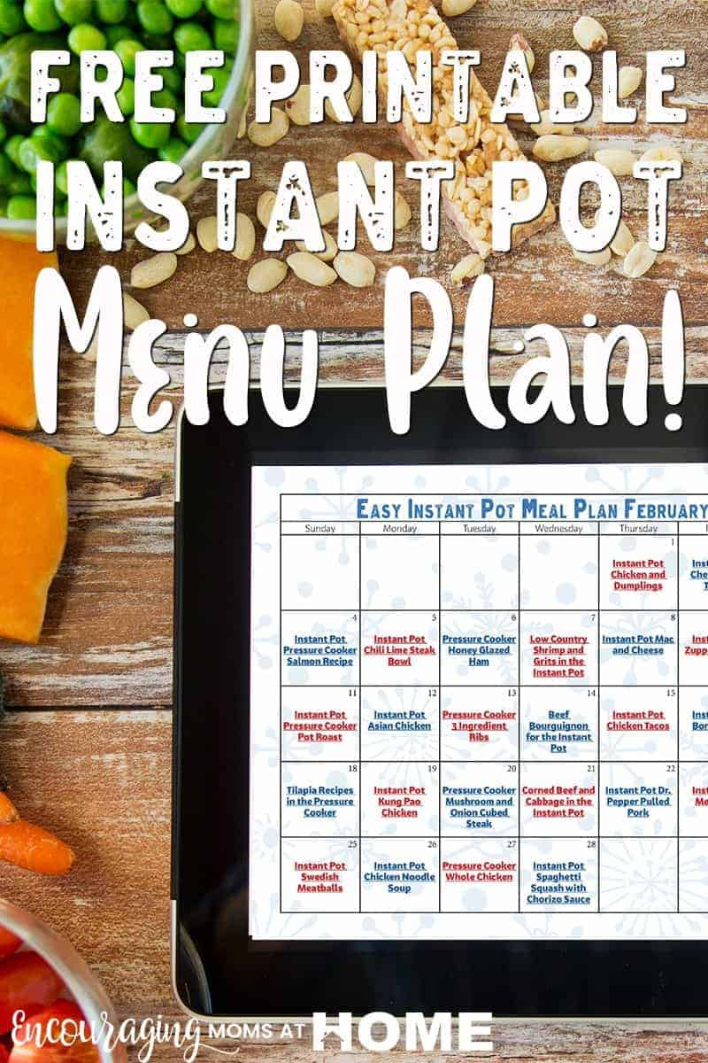 Do you like to plan your meals?  Here are 28 Instant Pot meals that can help make your planning a little easier. #instantpot #recipes