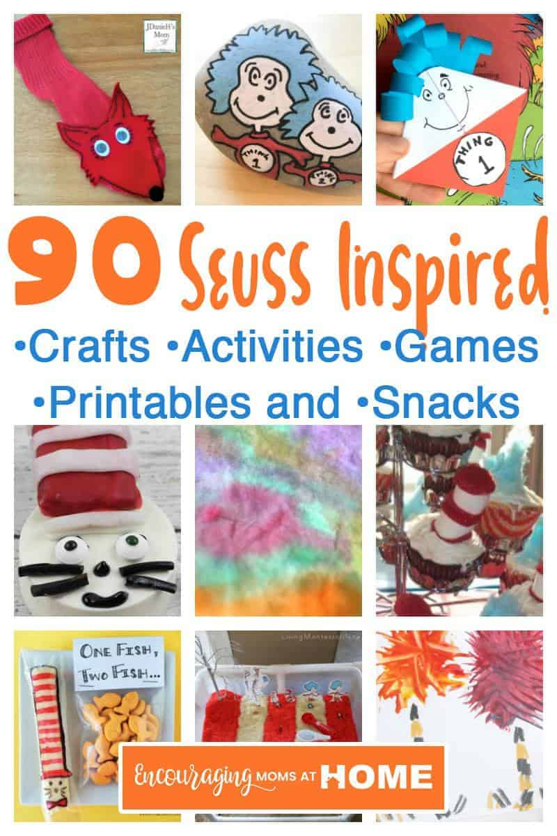 Dr. Seuss Day is March 2nd. For a fun day full of crafts, games, activities, printables and lesson plans for a Seuss-inspired celebration in your classroom. #homeschool #drseuss