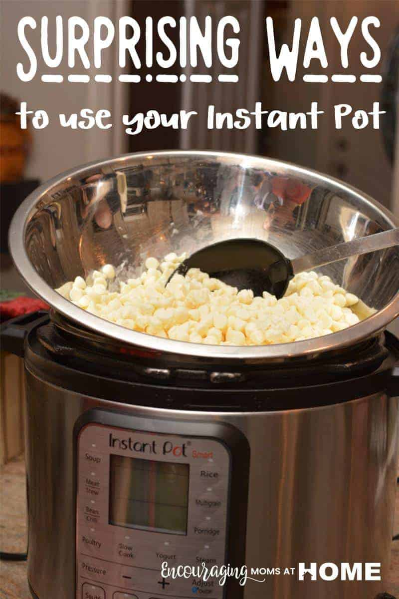 Did you know that the Instant Pot can be used for more than quick and easy meals?  From chapstick to vanilla extract, here are 10 ways to use your instant pot that might just surprise you. #instantpot
