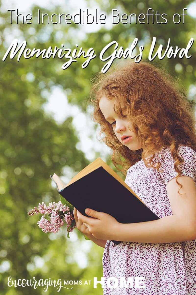 A child learning God's word reaps a lifetime of benefit - memorizing the Bible - yes! Scripture Memory is life changing. Here are some of the benefits.
