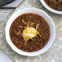 Instant Pot Lentil Chili for Weight Watchers – 0 Freestyle Points, Paleo, and THM-E