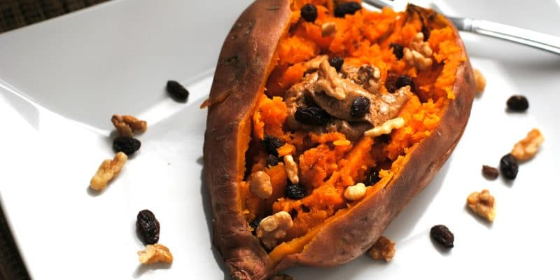 Instant Pot Sweet Potato with Whole30 Toppings for a Meal or Dessert