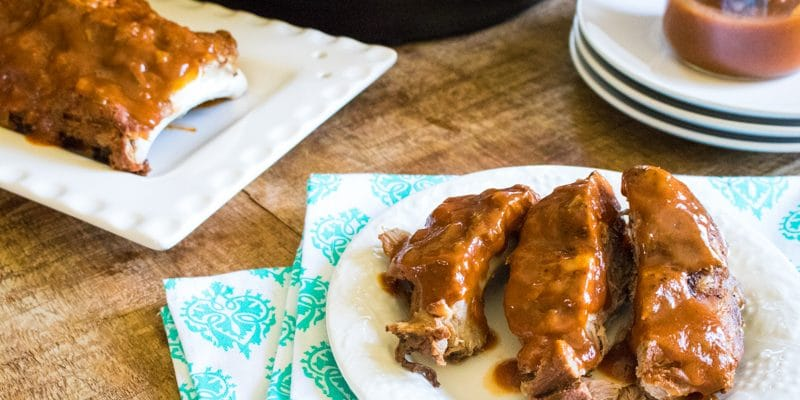 Best Instant Pot Pork Ribs with Homemade Instant Pot BBQ Sauce