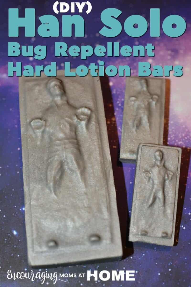 DIY Han Solo Bug Repellent Hard Lotion Bars for Kids Safe #StarWars #HanSolo